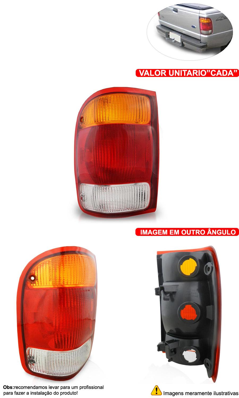 Lanterna Traseira Ranger 98-04 Tricolor - Cabeça Car