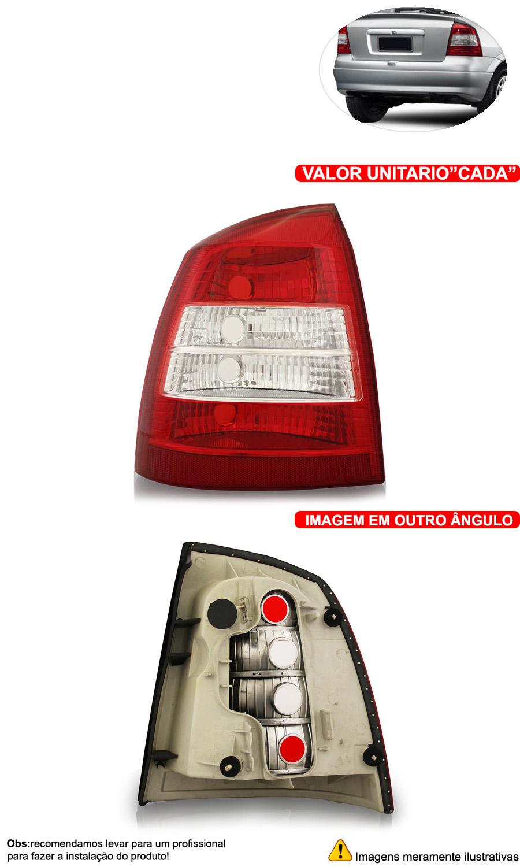 Lanterna Traseira Astra Sedan Bicolor 98 99 00 01 02 - Cabeça Car