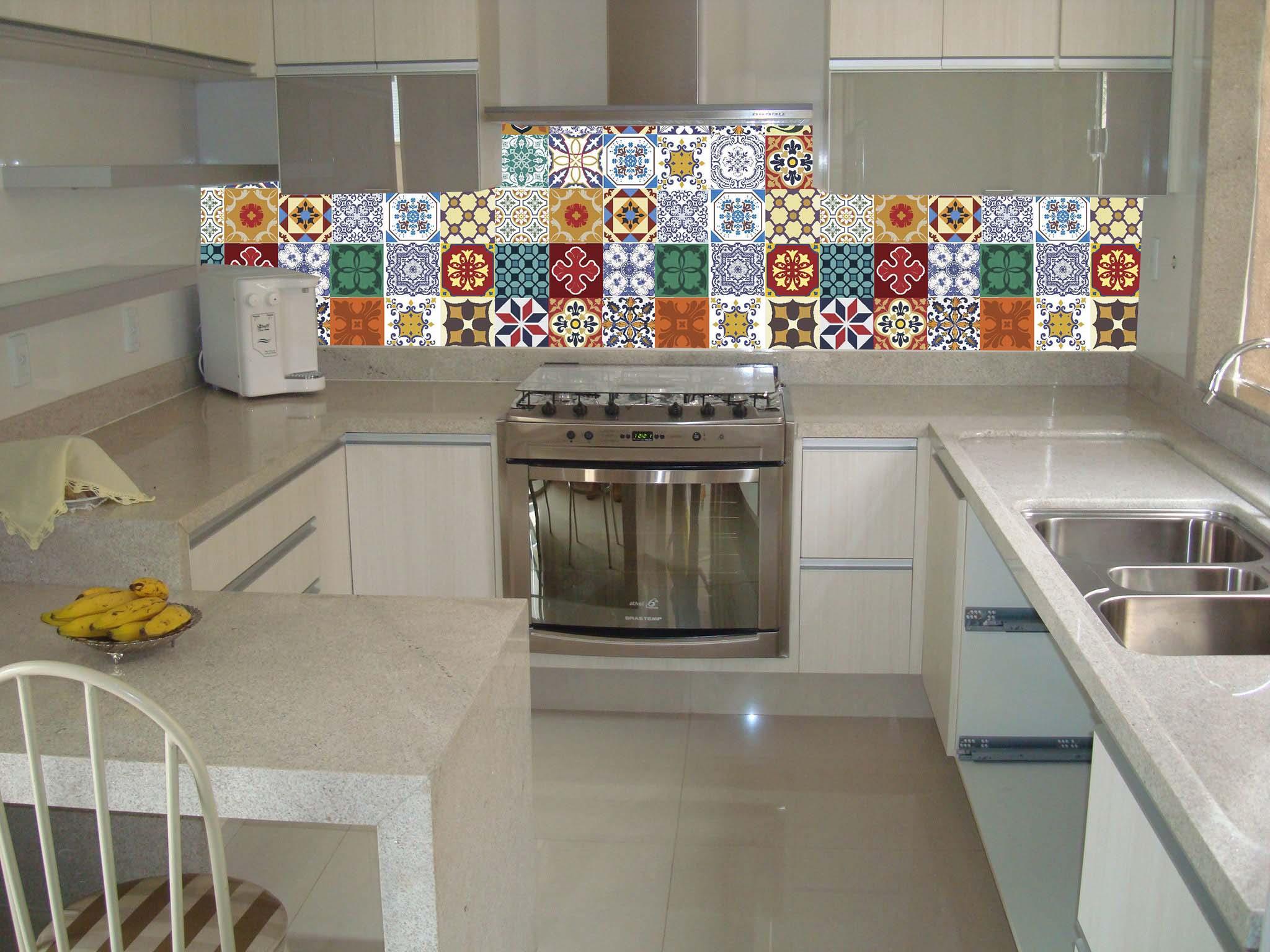 Comprar adesivos de ladrilho para cozinha kit 36 unidades for Comprar azulejos sueltos