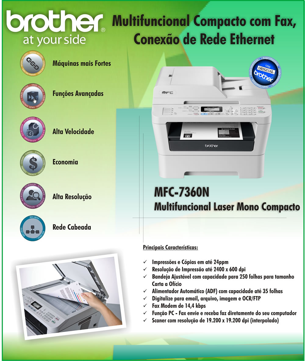 how to set up fax on brother mfc 7360n