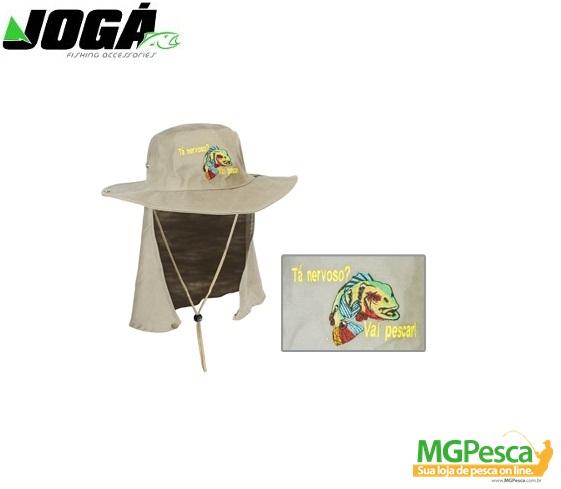 Chapéu JOGÁ Safari com proteção - bordado - MGPesca bbfa725fba4