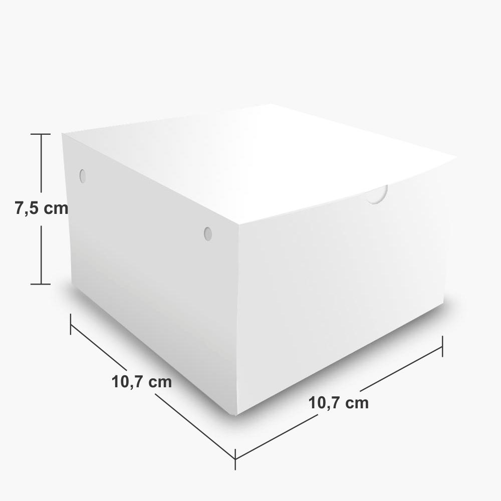 Dimensões da Embalagem Box de Hambúrguer Extra Grande