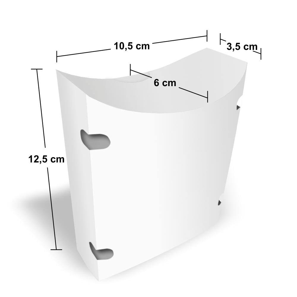Dimensões da Embalagem para Delivery de Batata Frita
