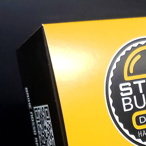 Detalhe da Caixa Personalizada de Hamburguer