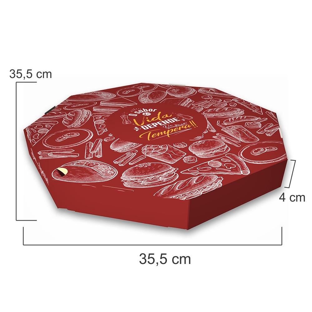 Dimensões da Embalagem de Pizza