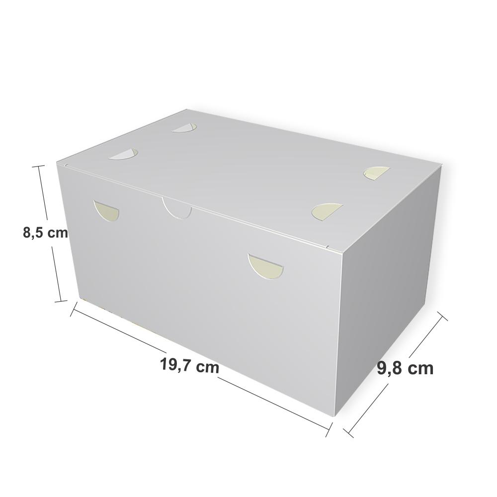Dimensões da Embalagem Box Churros Espanhol
