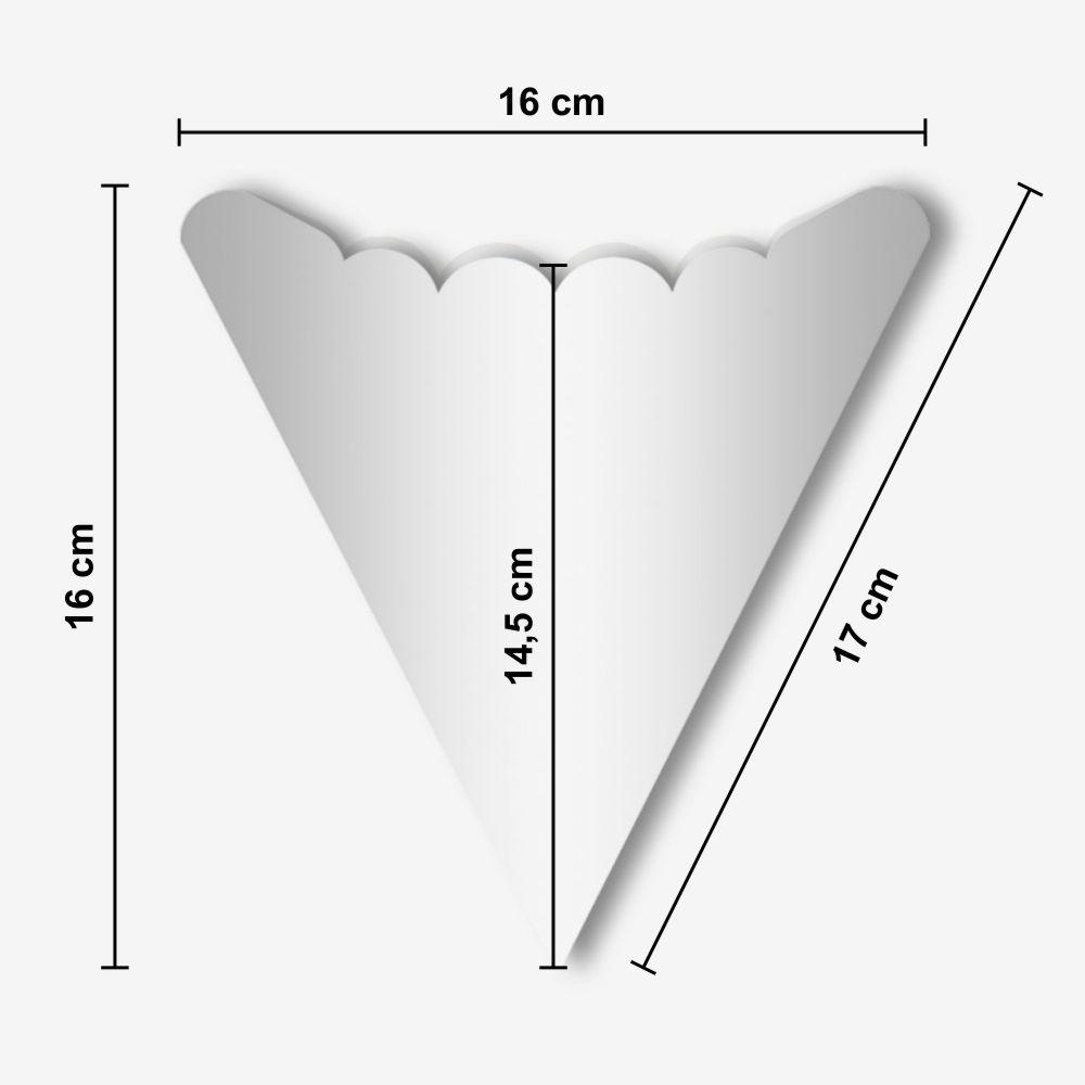Dimensões da Embalagem de Crepe Fancês