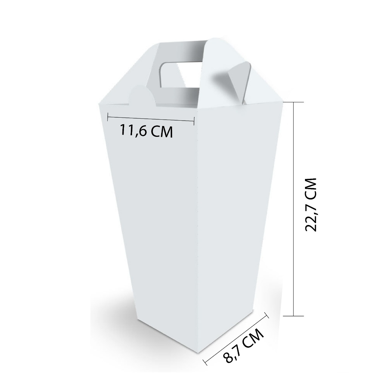 Dimensões Embalagem Pipoca Delivery