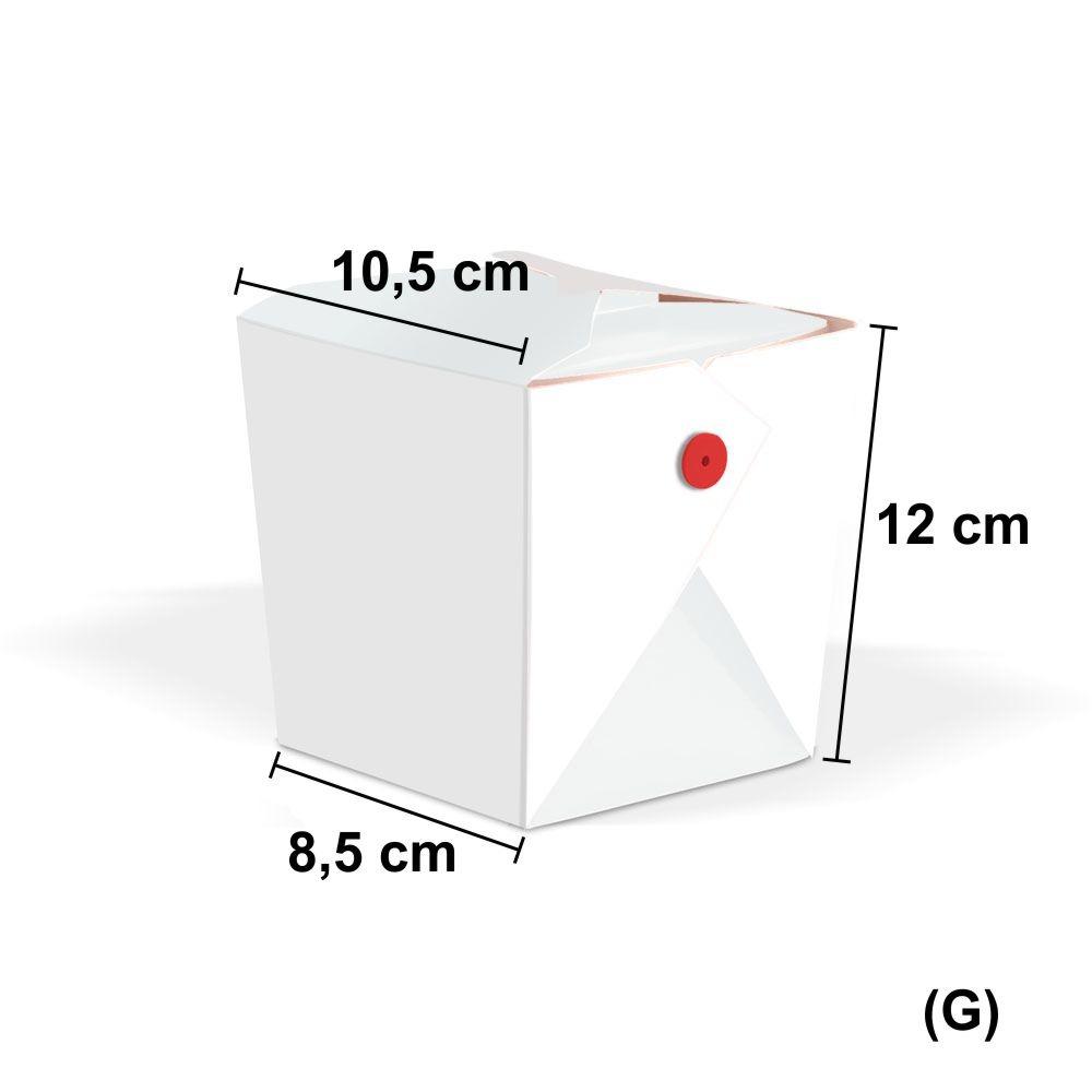 Tamanho do Box de yakisba Comia Oriental Grande