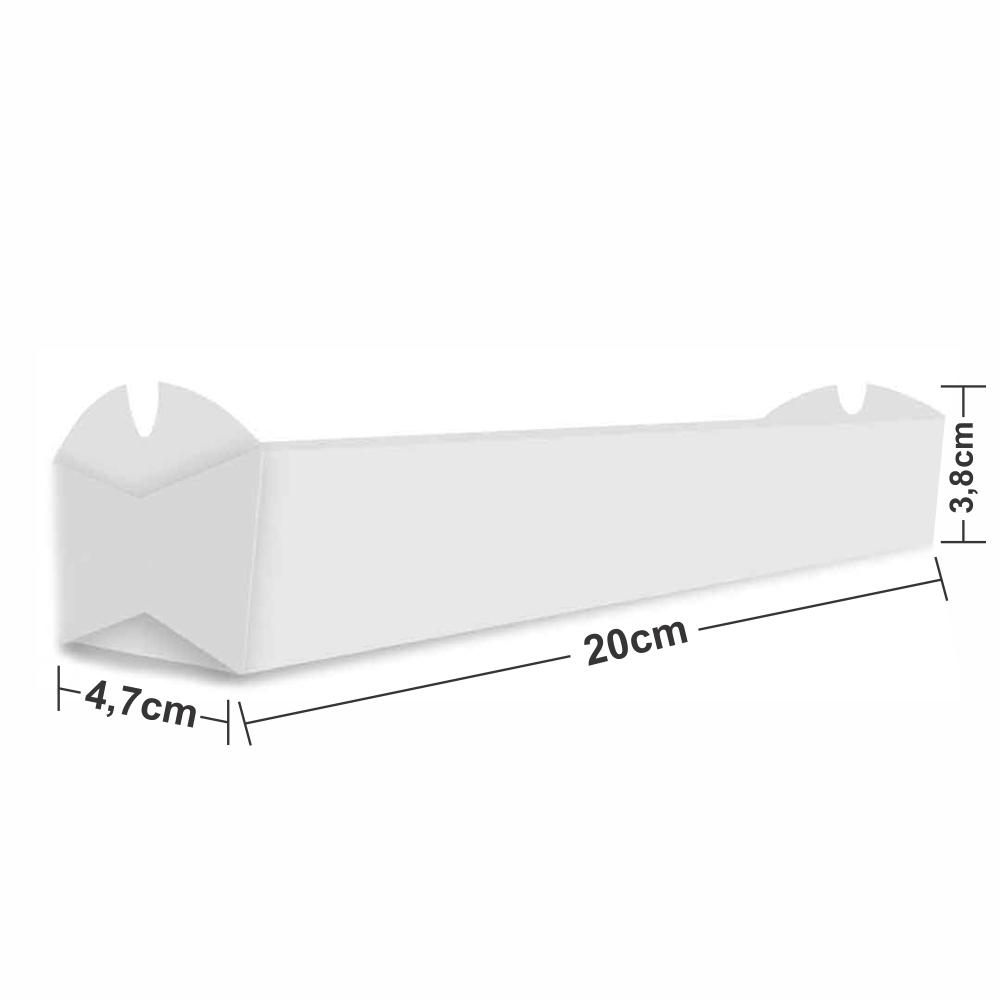 Dimensões da Embalagem de Crepe Suiço