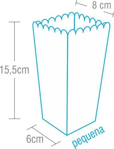 Dimensões da Embalage para Pipoca Pequena