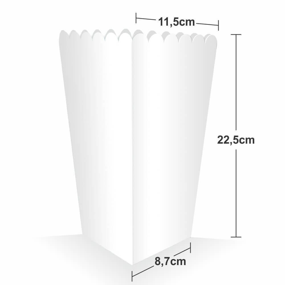 Dimensões Embalagem para Pipoca Gande