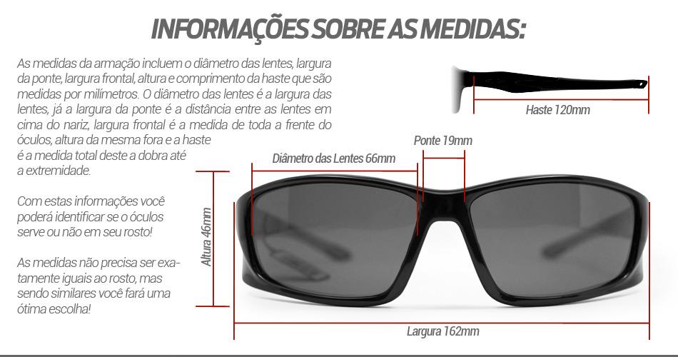 Óculos de Sol Polarizado Black Monster 3x Amazon 3641cccbc9