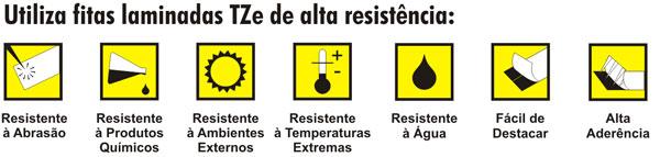 Utiliza as Fitas TZe de Alta Resistência