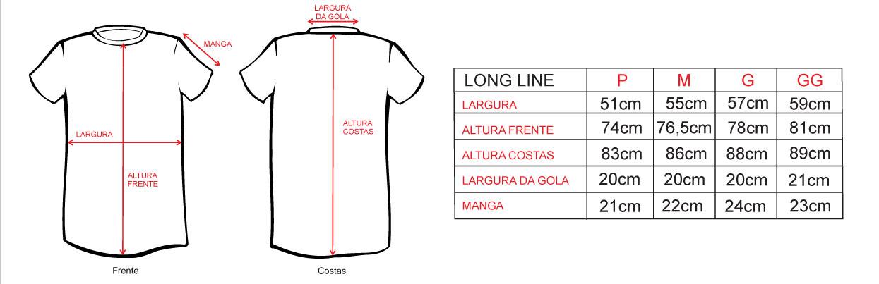 6f5c54e6f7 A Camiseta Feminina Longline Traxart Bra League- DV-134 é um modelo  alongado (Swag