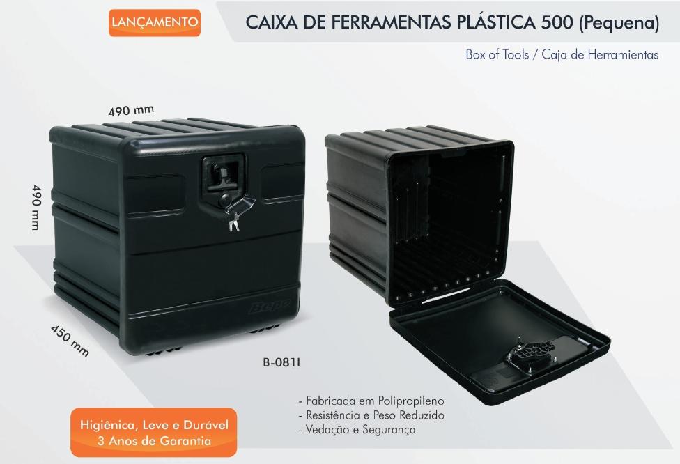 CAIXA DE FERRAMENTAS - PLÁSTICA - PEQUENA - BEPO