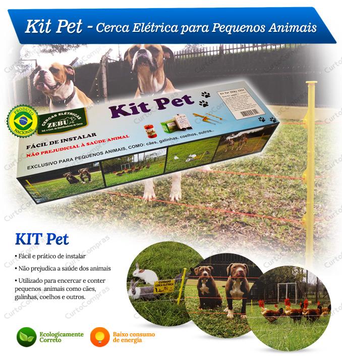 Kit Pet Cerca Elétrica para Pequenos Animais