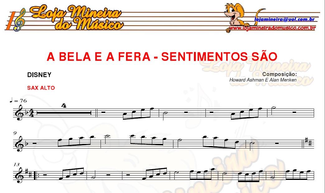 partitura a bela e a fera casamento pdf lojamineiradomusico