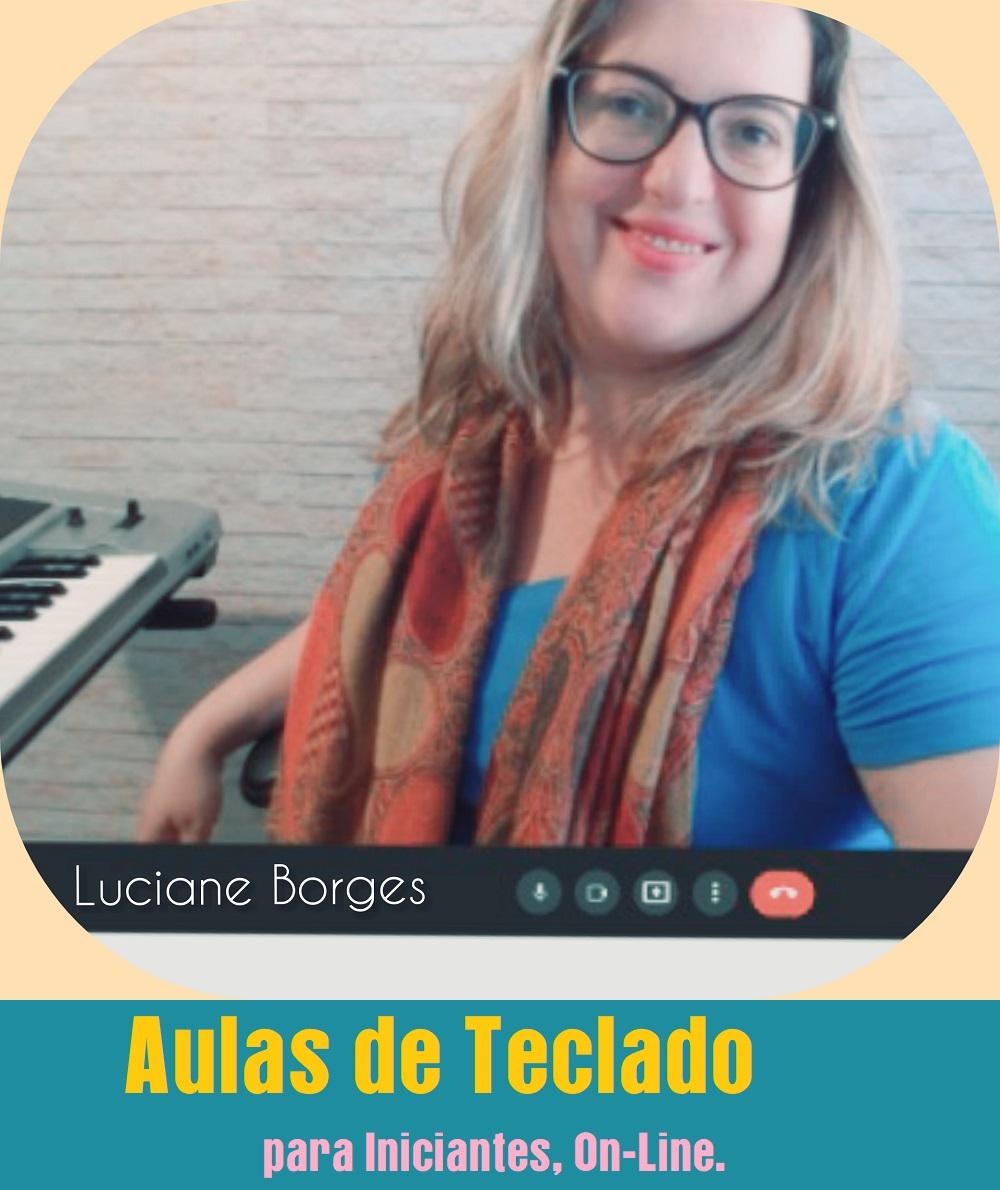 aulas de teclado on-line professora de teclado iniciantes no teclado Luciane Borges Professora Mulher Tecladista