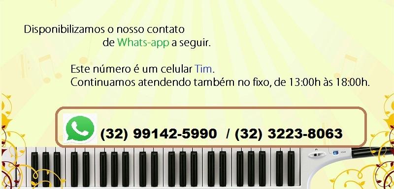 Telefone Loja Mineira do Músico (32)99142-5990 e (32)3223-8063