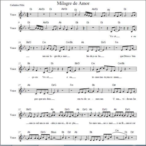 partitura com letra da musica casamento evangelico @LojaMineiradoMusico