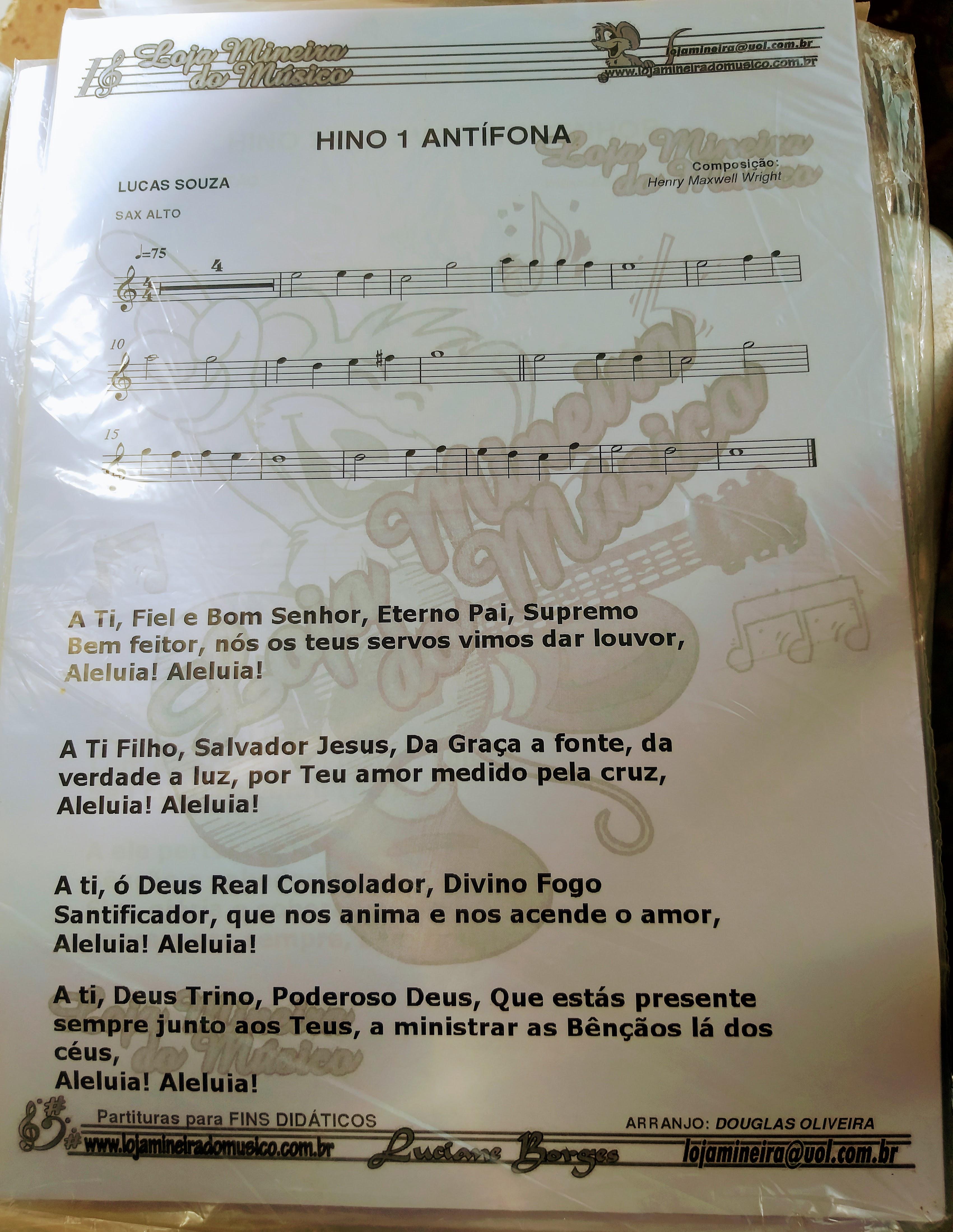SAX ALTO Partituras do Cantor Cristão com Playbacks Cantor Cristão para Saxofone Mi Bemol | Os arranjos são prontos para uso com partituras transpostas