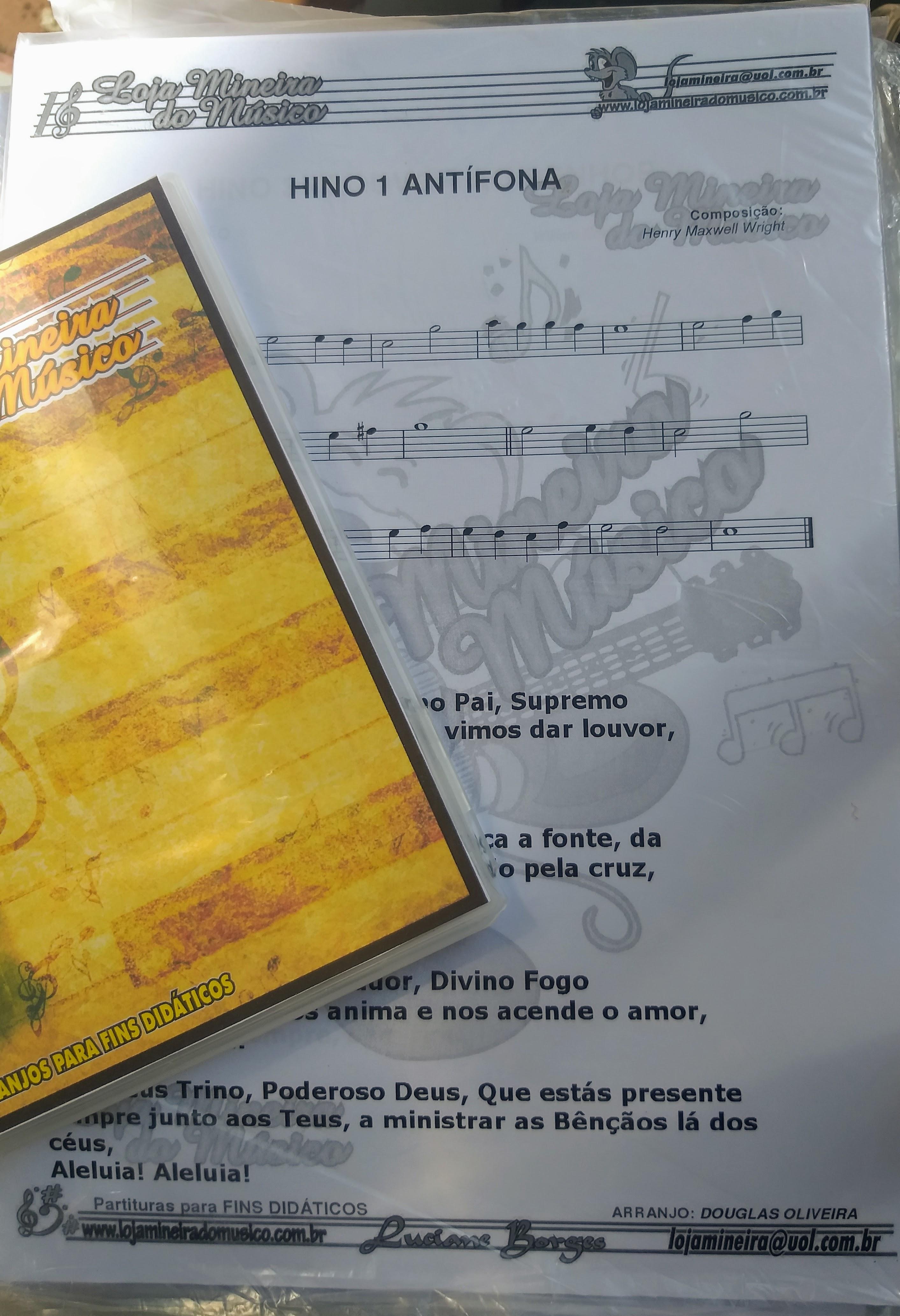 Coletânea Cantor Cristão Sax Alto Hinário cantor cristão com áudios e partituras  O Cantor Cristão é o segundo hinário mais importante na Música Evangélica.