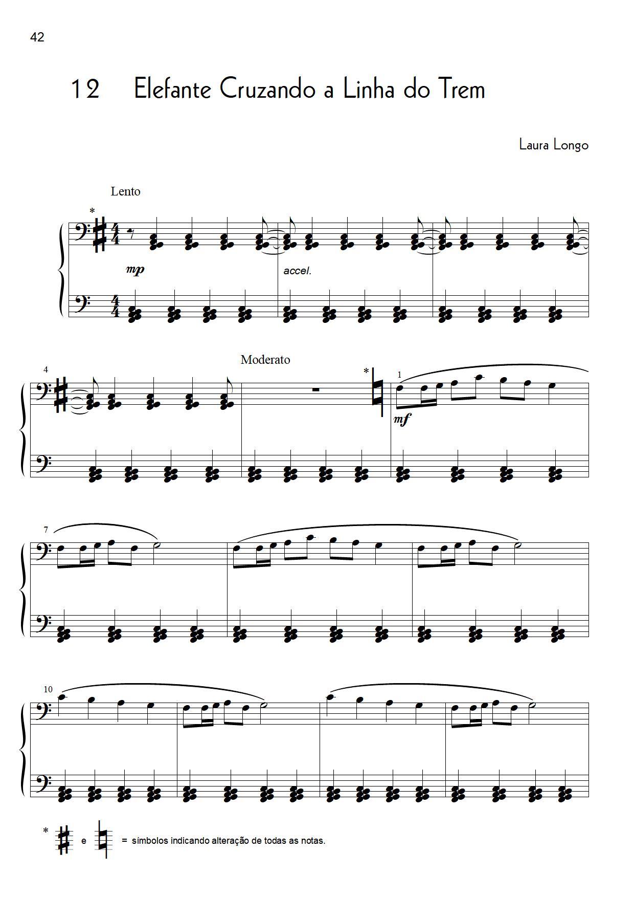 PDF Partitura Livro da Laura Longo exemplo Disponivel na Loja Mineira do Musico