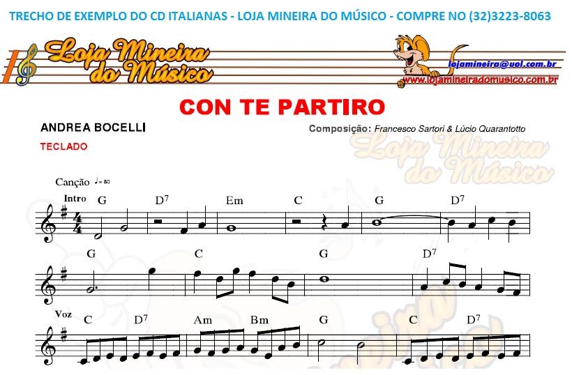 Cd de partituras italianas para teclado loja mineira do for Crea il mio piano personale gratuito