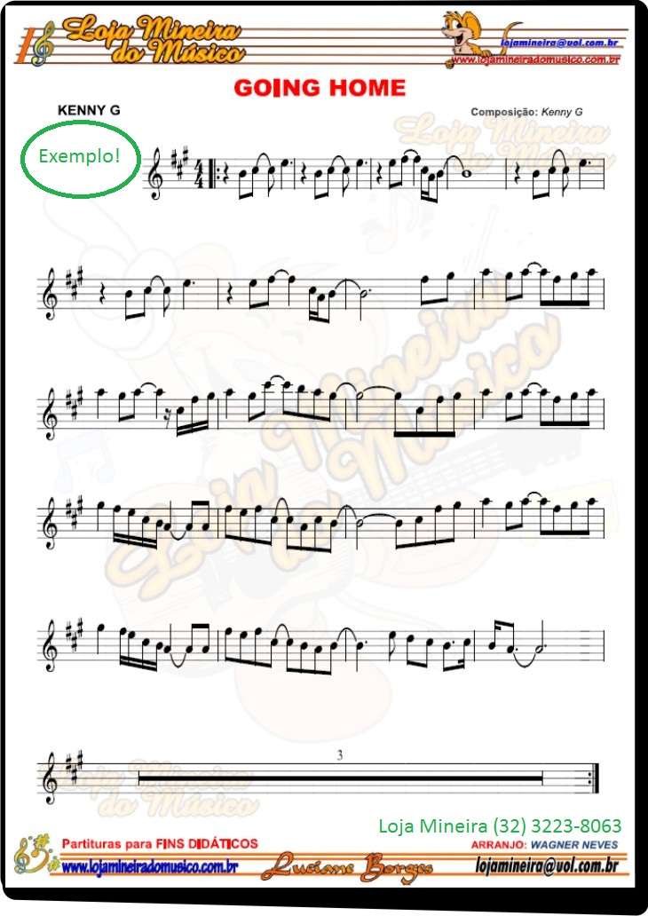 sax tenor partitura iniciante A @LojaMineiradoMusico desenvolve arranjos de fins exclusivamente didáticos.  Servem para quem está aprendendo um instrumento e busca um repertório com uma escrita fácil e não oficial para aplicar os conhecimentos dos fundamentos musicais tais como tonalidades, andamentos, símbolos os mais variados da escrita e mais.