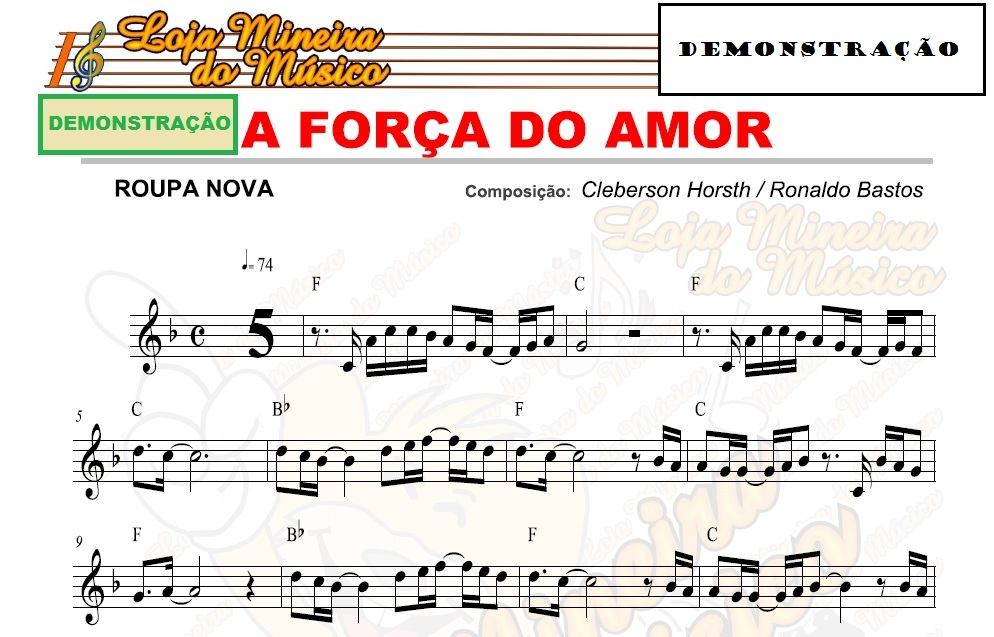 Partituras de músicas de Roupa Nova, com cifras e melodias para teclado cifradas
