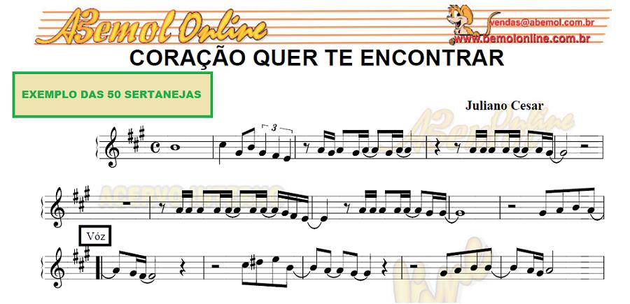 Trompete Partituras estilo Sertanejo