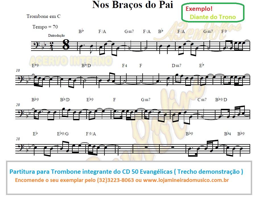 partitura para trombone evangelico exemplo