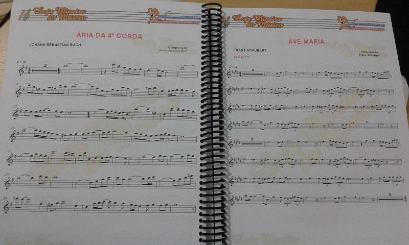 Exemplo partituras musicais loja de partituras loja mineira do musico