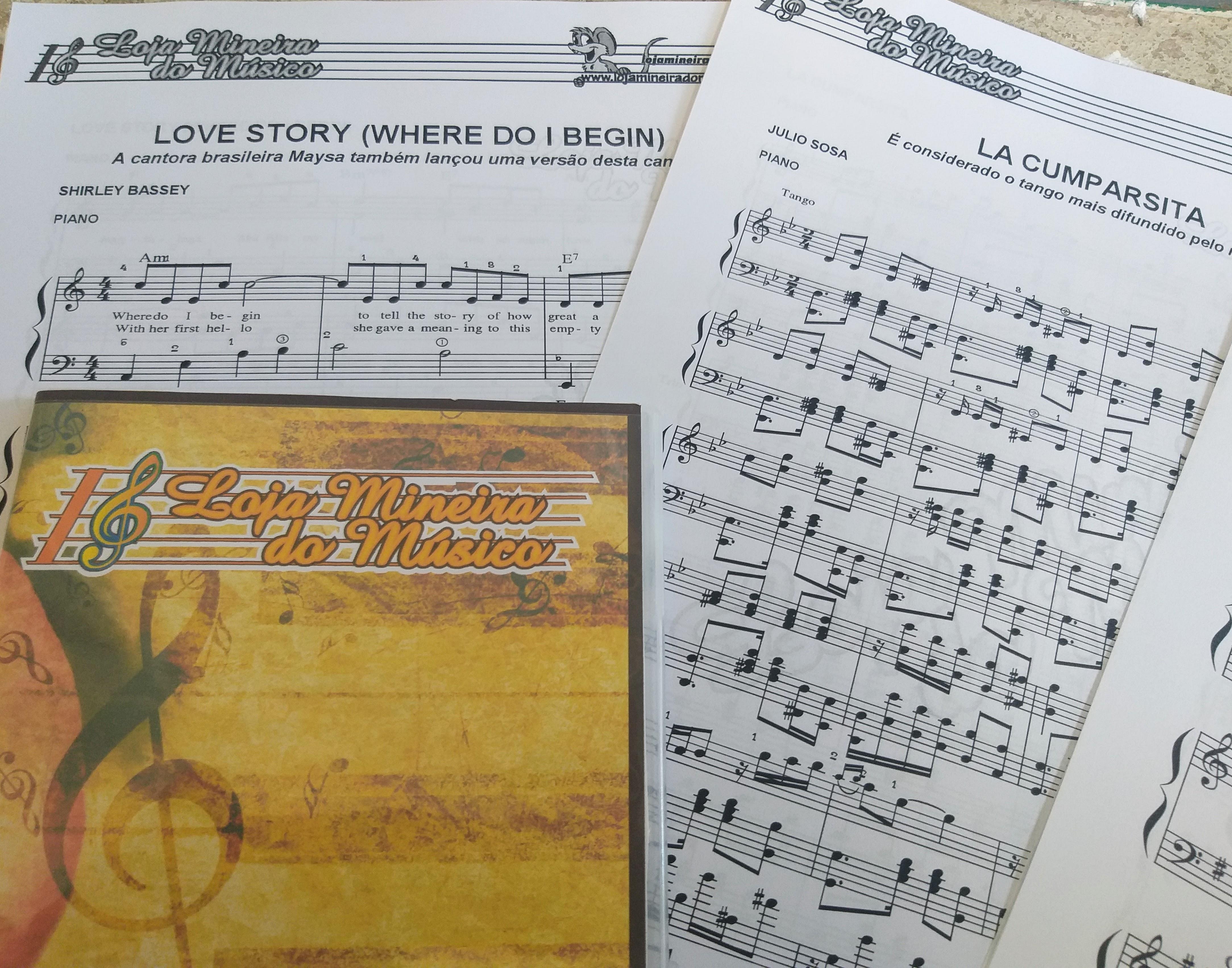 Love Story Piano Partitura em PDF Tango La Cumparsita para Piano e Outras Partituras para Piano em PDF Loja Mineira do Musico