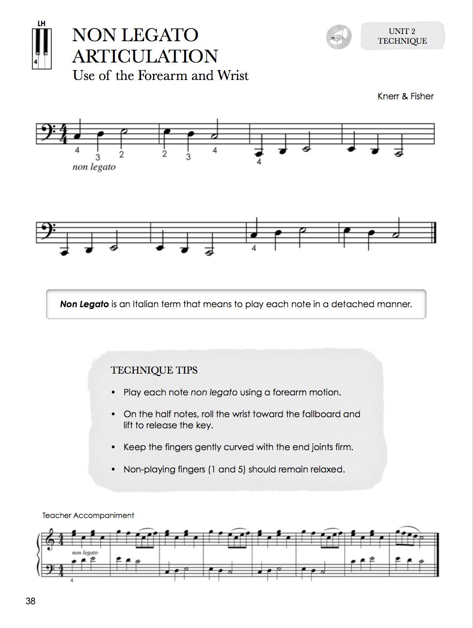 NON LEGATO ARTICULATION PIANO ARTICULAÇÃO LEGATO PIANO REPERTOIRE & TECHNIQUE FOR THE OLDER STUDENT BOOK 1 LOJA MINEIRA DO MUSICO