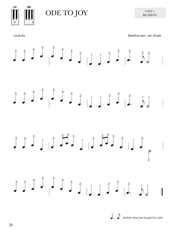 ODE TO JOY ARTICULAÇÃO LEGATO PIANO REPERTOIRE & TECHNIQUE FOR THE OLDER STUDENT BOOK 1 LOJA MINEIRA DO MUSICO