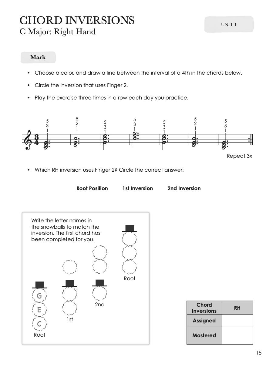 Piano Inversão de Acordes PIANO SAFARI Technique BOOK 3, LIVRO DE TECNICA DE PIANO 3 PIANO SAFARI LOJA MINEIRA DO MUSICO,