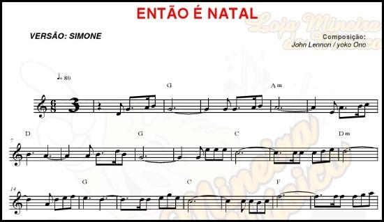 partitura para teclado então é natal simone