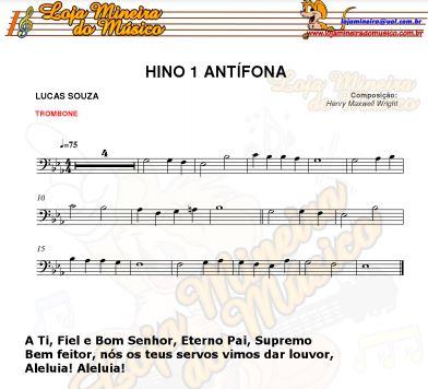 cantor cristão partitura para trombone na clave de fá