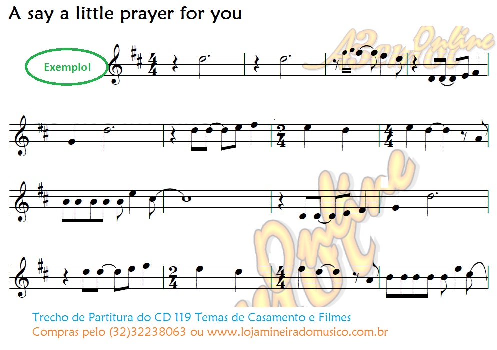 partitura a say a little a prayer for you