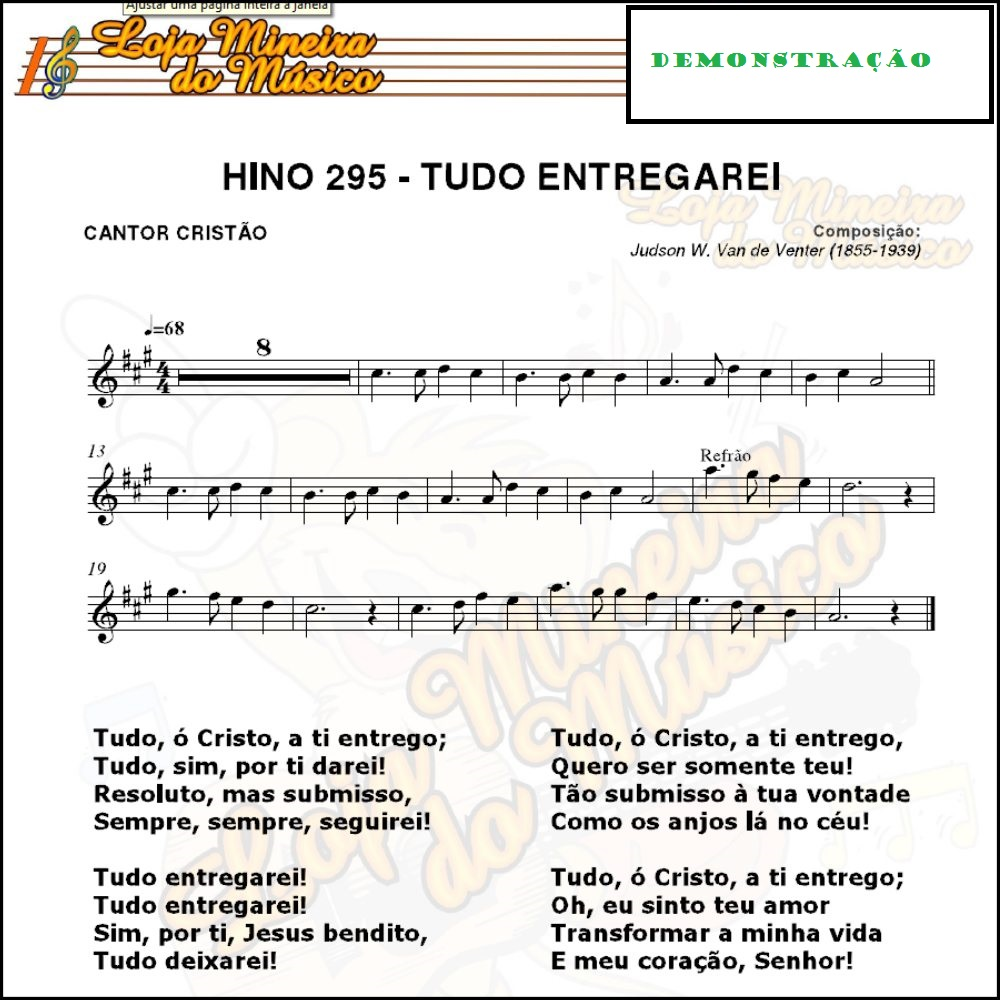 cantor cristão cifrado pdf simplificado para imprimir,