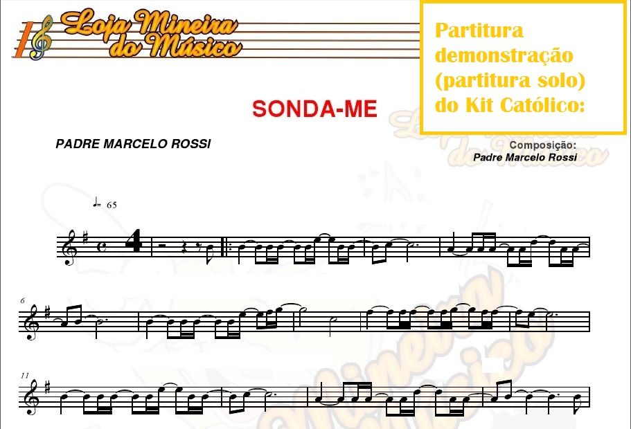 Exemplo de como são as partituras, no caso de instrumentos de corda ou sopro.