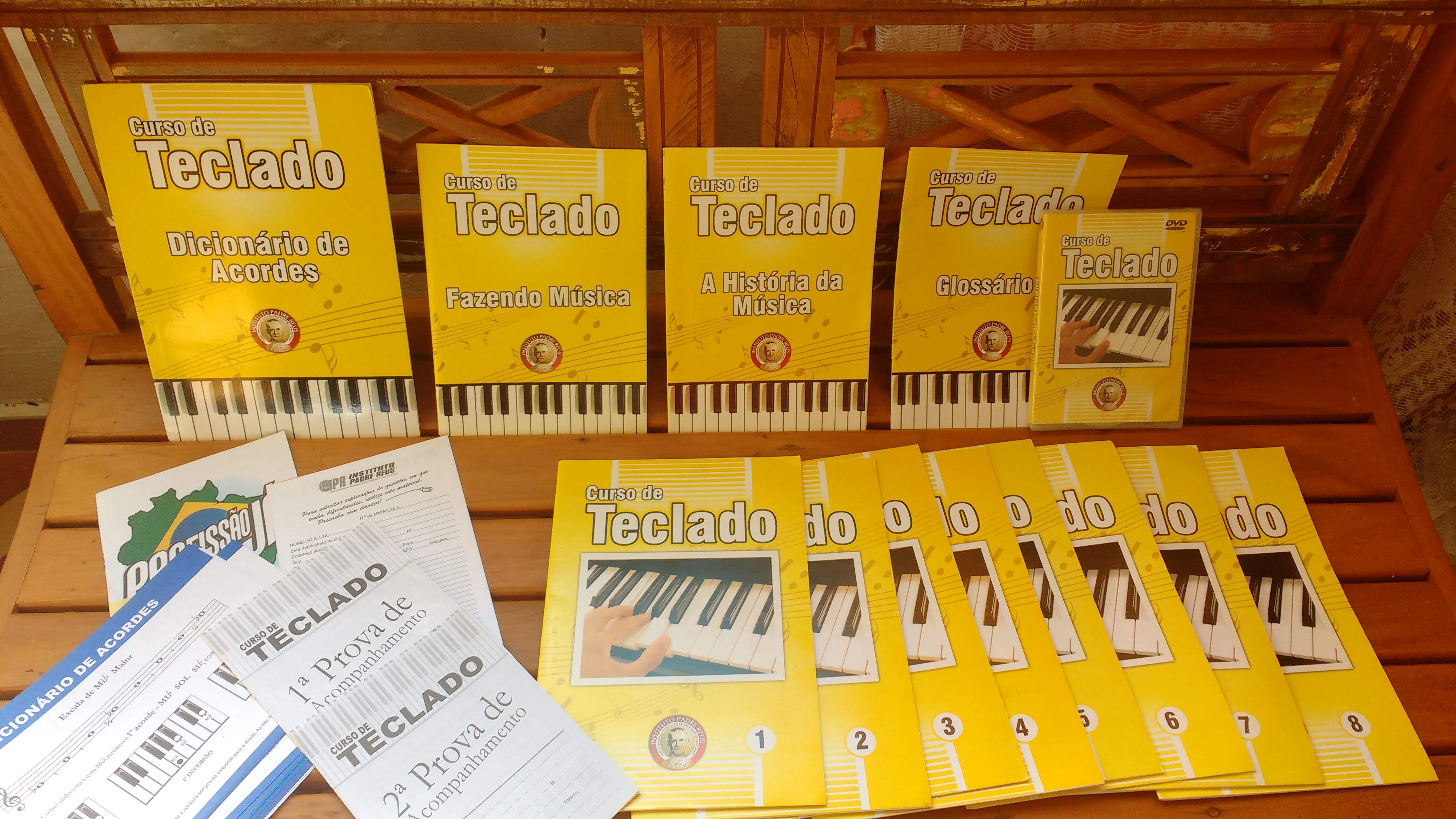 metodo para teclado aprendiz iniciante aprender teclado professora luciane borges loja mineira do musico
