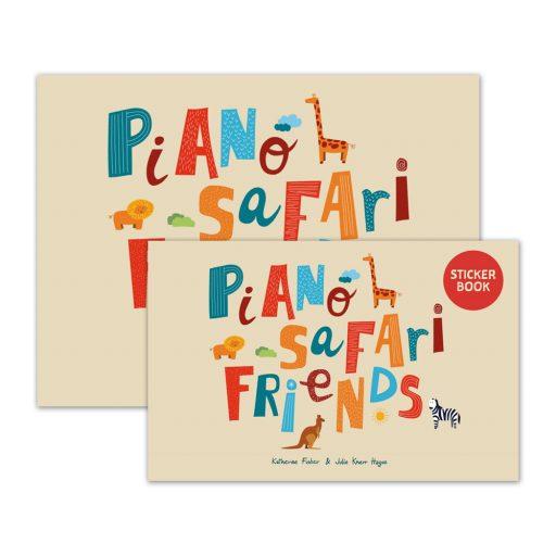 """Piano Safari  Amigos do Piano Safari  PIANO SAFARI FRIENDS    O Piano Safari Friends Student Pack  se destina a preparar os alunos para o Piano Safari Nível 1. Seu objetivo é fornecer às crianças experiências musicais ricas e agradáveis através da imitação, improvisação, canto, movimento e aprendizagem dos fundamentos da notação rítmica e pré-equipe lendo. A idade recomendada é de 4 a 6 anos. O livro principal vem com um Livro de Adesivos correspondente, um PDF do Kit de Decoração para Piano, um PDF das Folhas do Alfabeto e faixas de áudio que o acompanham.  Clique aqui para ver uma amostra em PDF de peças e atividades do início do livro!  Clique aqui para fazer o download gratuito de """"Colors Shine"""", uma peça para seguir o líder da Unidade 2.  Aqui está um vídeo do Follow the Leader para """"Colors Shine."""" É melhor usá-lo após a apresentação da peça na lição e deve ser usado em casa."""
