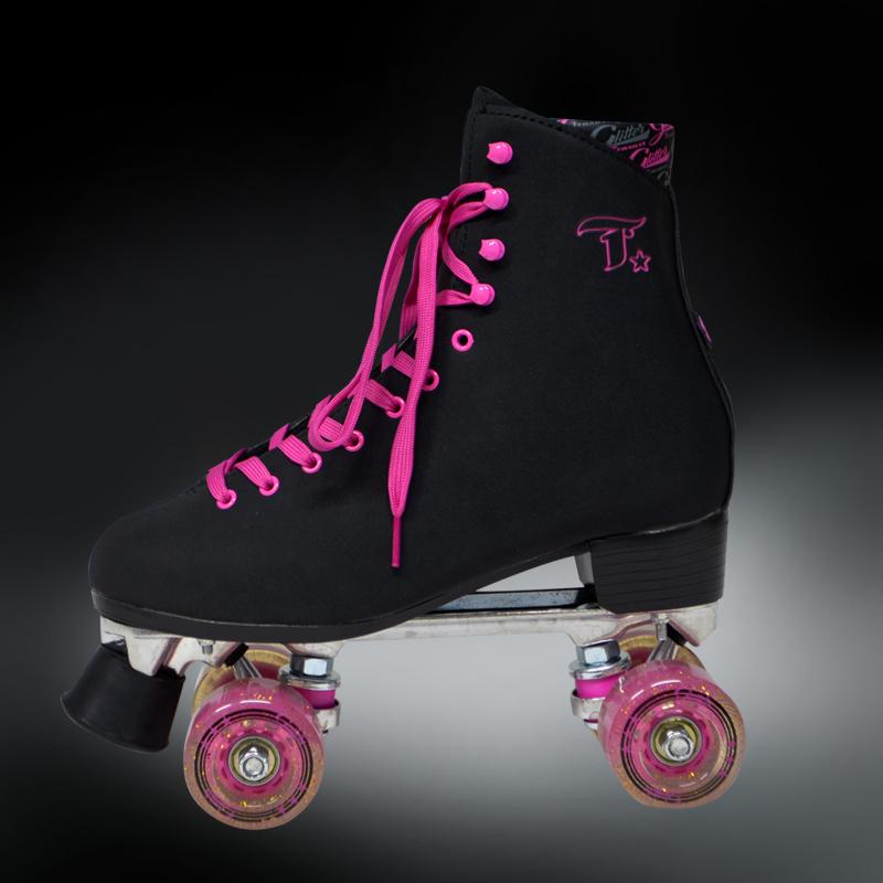 Rock Shop Skate - Patins tradicional Traxart Glitter Preto 4e19369fea2