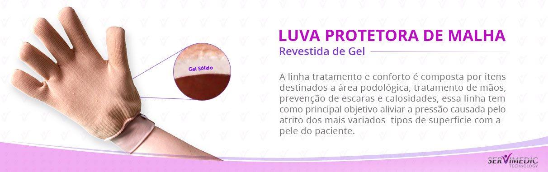Luva Protetora de Malha Revestida de Gel - infografico