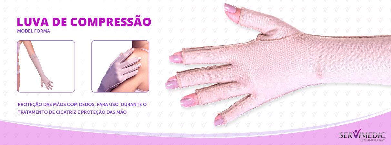 Luva de Compressão para Proteção das Mãos Com Dedos - Par Model Forma - info