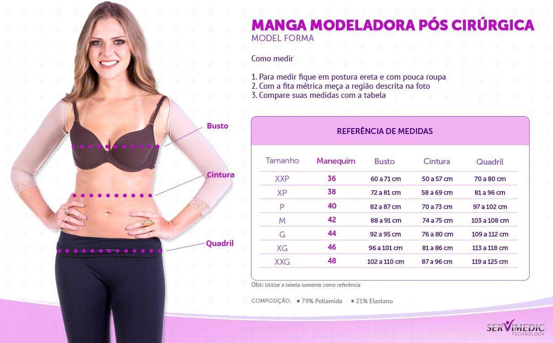 Manga Modeladora Pós Cirúrgica - Model Forma - info