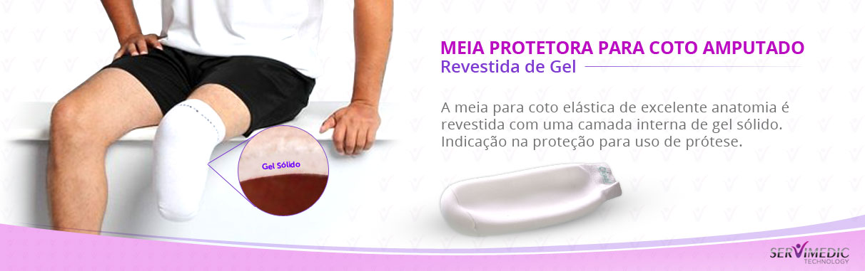 Meia Protetora para Coto Amputado Revestida de Gel - infografico